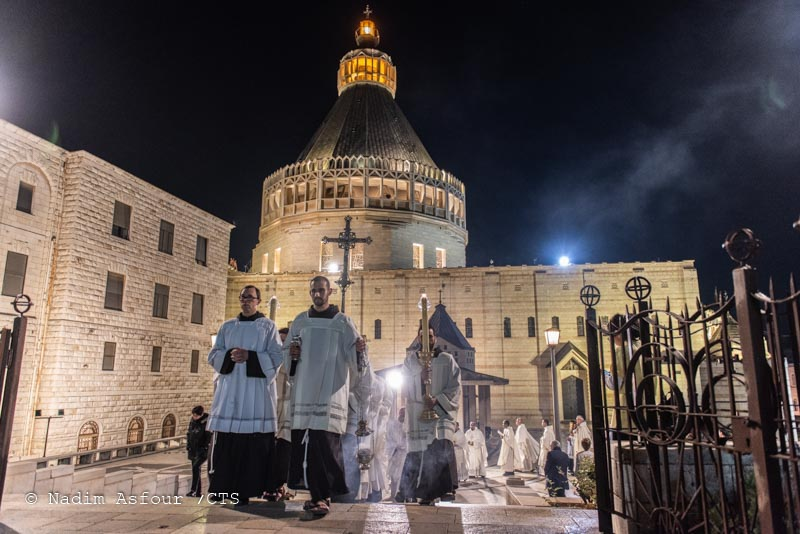 The Franciscan Friars during the celebration for the solemnity of St. Joseph, Nazareth 2020