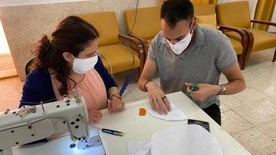 "A day of training in producing protective masks, within the project ""Active Women Against Covid-19"""