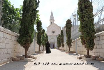 Fr. Abdel Masih Fahim at the church of Ramla