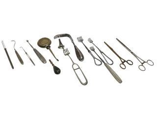 Surgical tools preserved in the convent of St Saviour