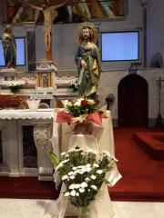 New statue of St. Barnabas, blessed on Sunday 27th September 2020